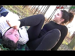 BDSM Domination Feet Fetish Foot Fetish Licking Mammy Outdoor